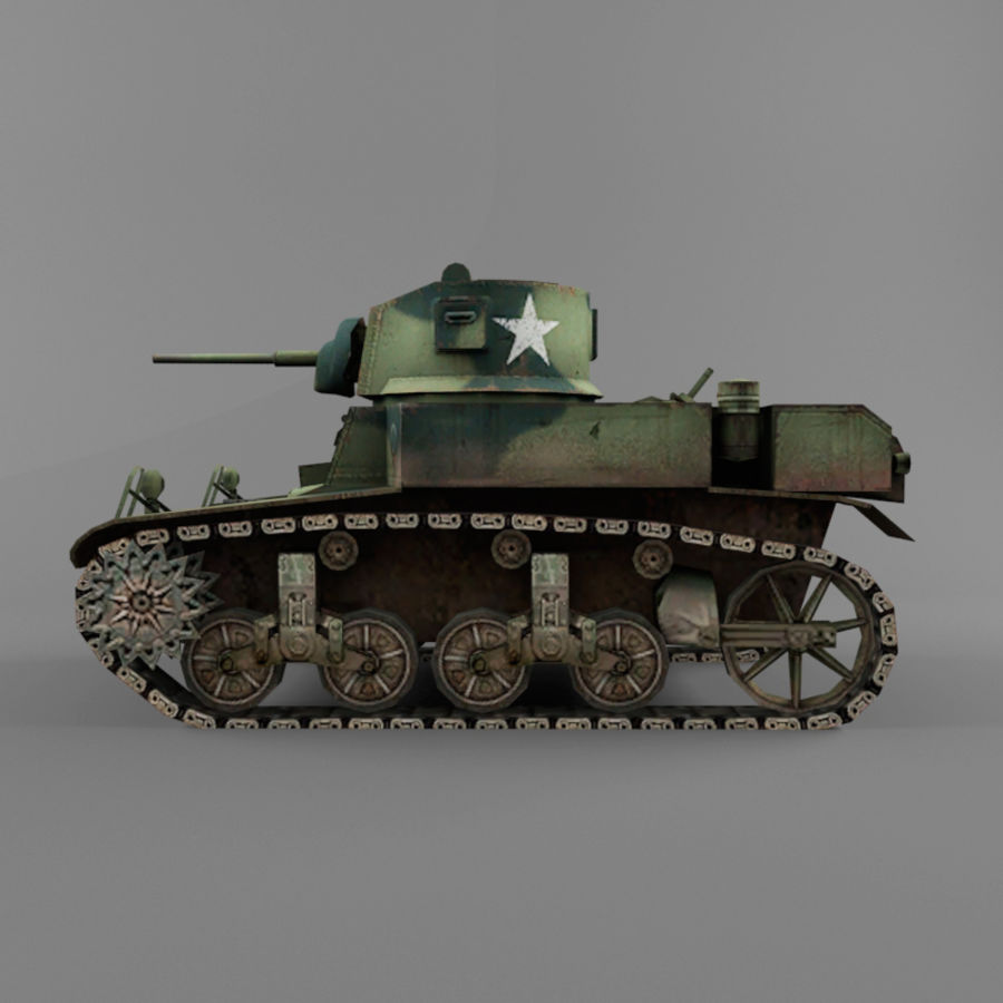 M3 Stuart royalty-free 3d model - Preview no. 2