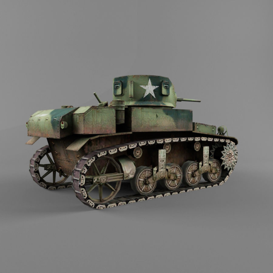 M3 Stuart royalty-free 3d model - Preview no. 5