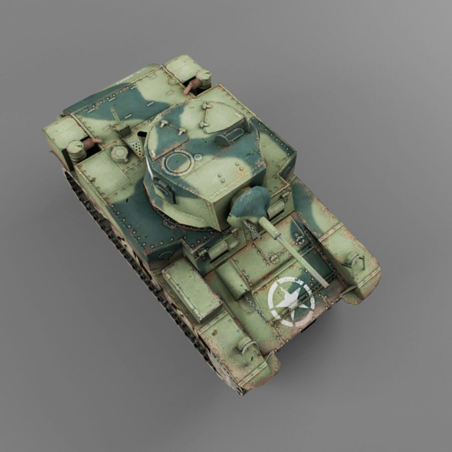 M3 Stuart royalty-free 3d model - Preview no. 9