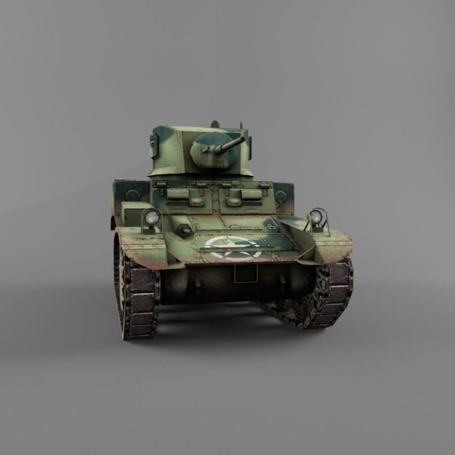 M3 Stuart royalty-free 3d model - Preview no. 8