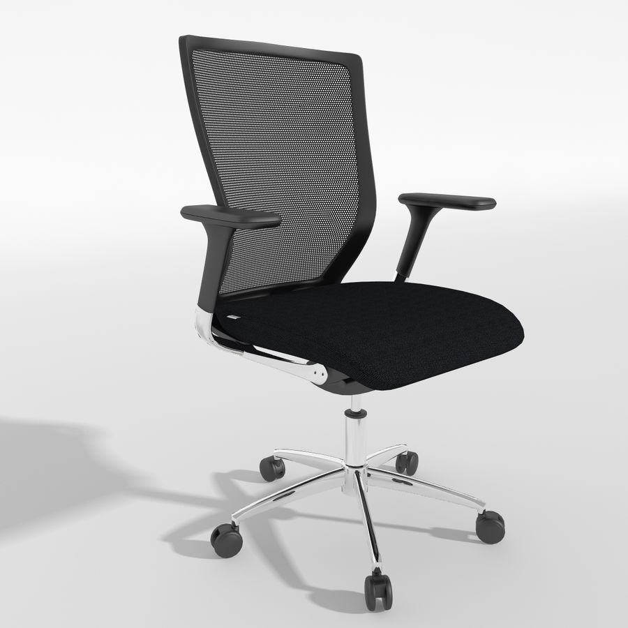 Chair Office royalty-free 3d model - Preview no. 9