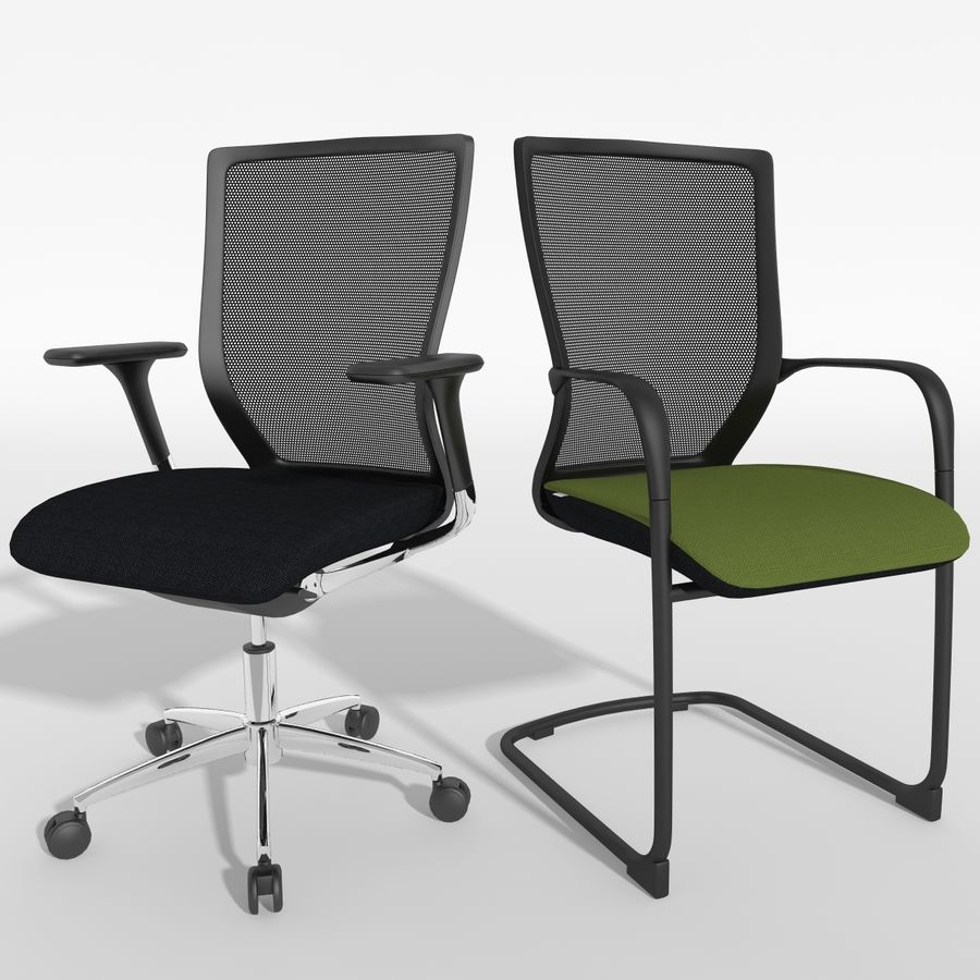 Chair Office royalty-free 3d model - Preview no. 1