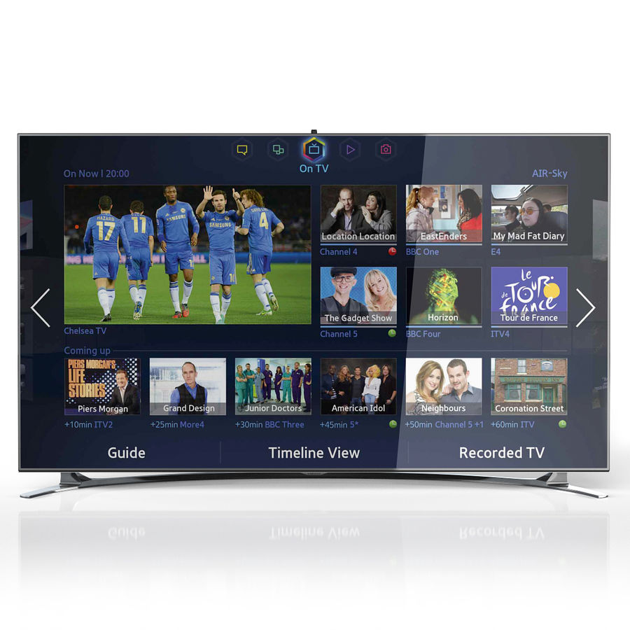 Samsung 46 inch F8000 LED SMART FULL HD TV royalty-free 3d model - Preview no. 3