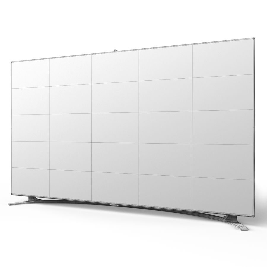 Samsung 46 inch F8000 LED SMART FULL HD TV royalty-free 3d model - Preview no. 13