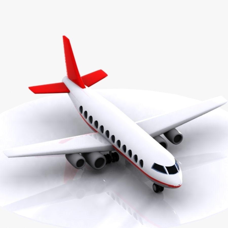 Cartoon Aircraft royalty-free 3d model - Preview no. 4