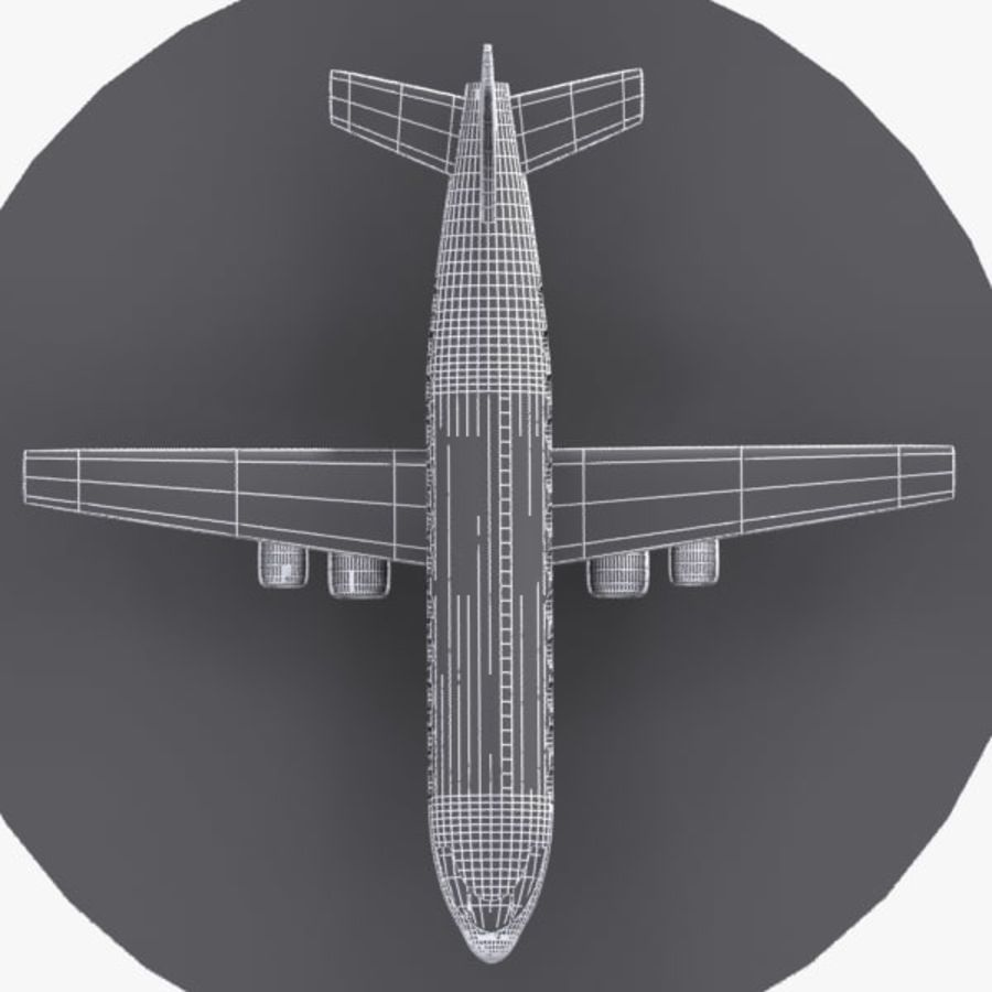 Cartoon Aircraft royalty-free 3d model - Preview no. 9