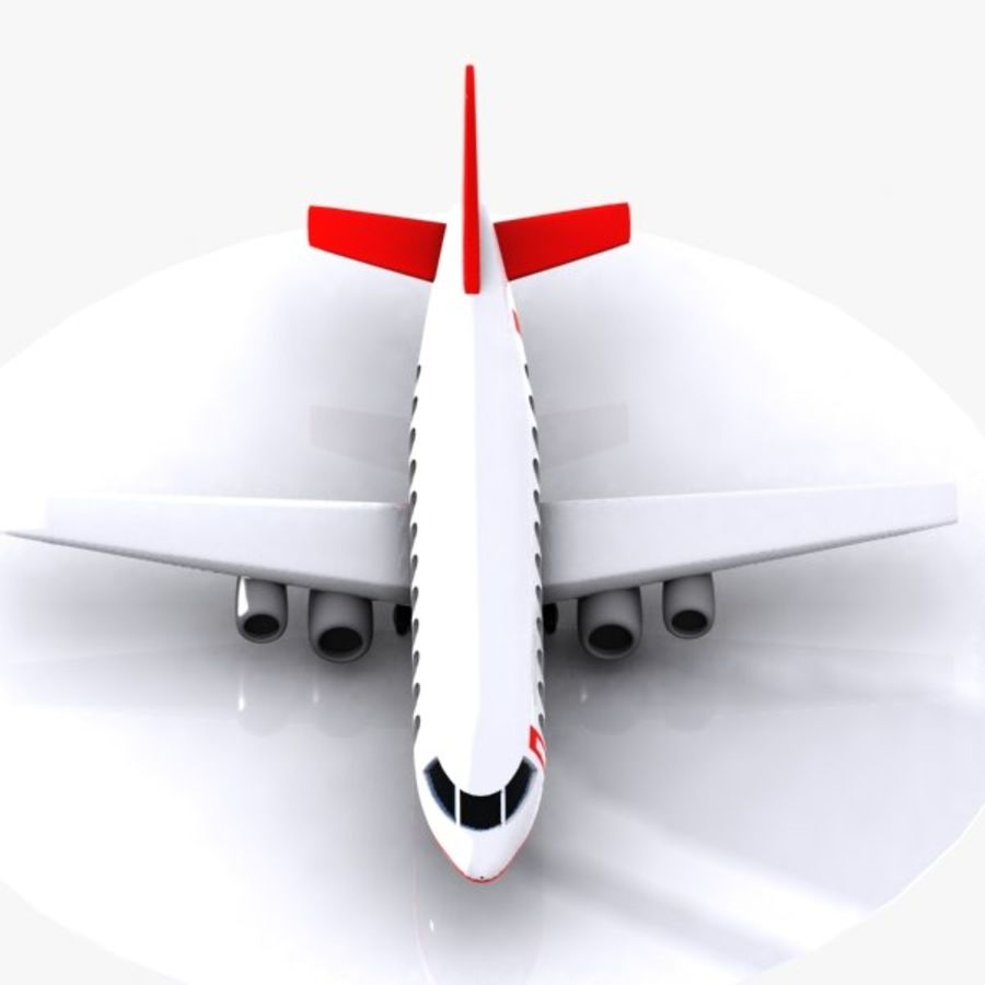 Cartoon Aircraft royalty-free 3d model - Preview no. 3