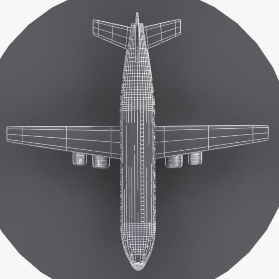 Cartoon Aircraft royalty-free 3d model - Preview no. 9