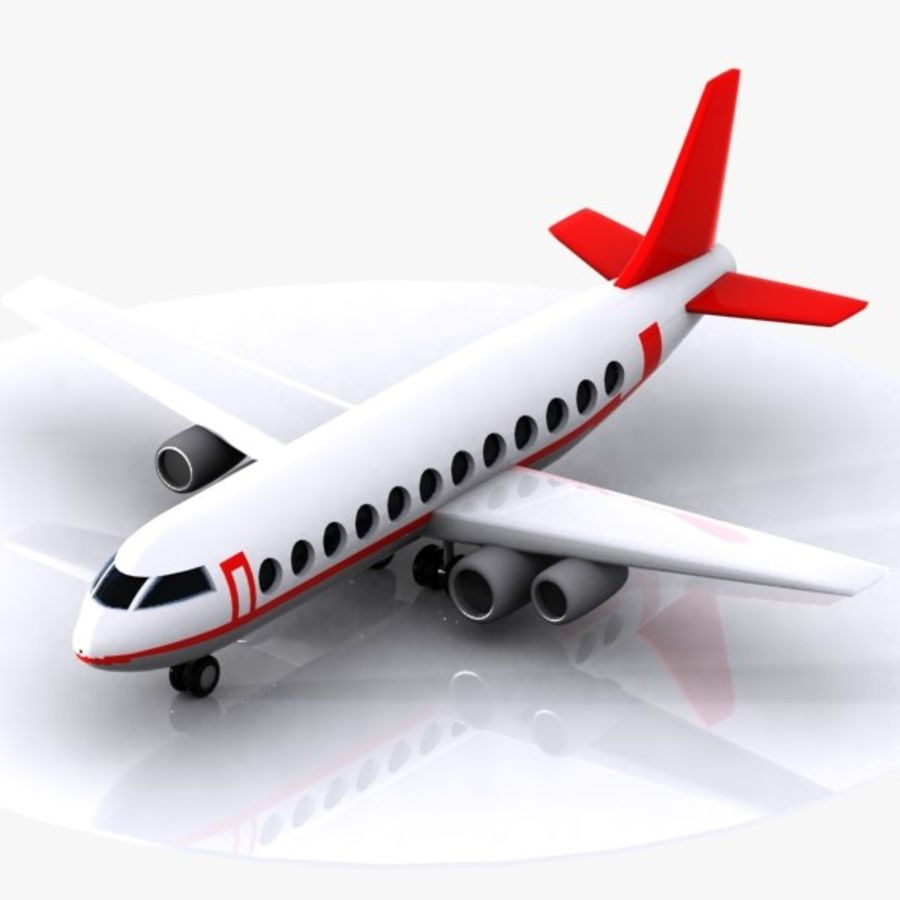 Cartoon Aircraft royalty-free 3d model - Preview no. 1
