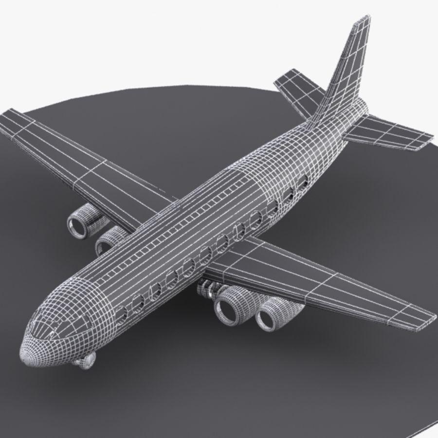 Cartoon Aircraft royalty-free 3d model - Preview no. 6