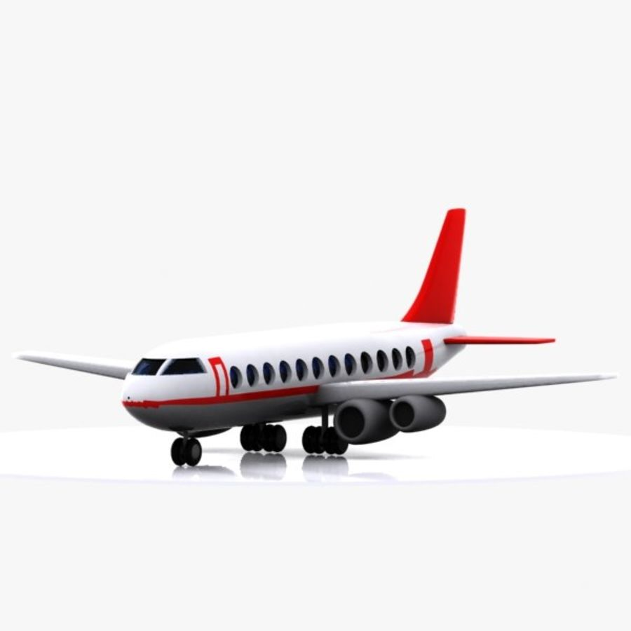Cartoon Aircraft royalty-free 3d model - Preview no. 2