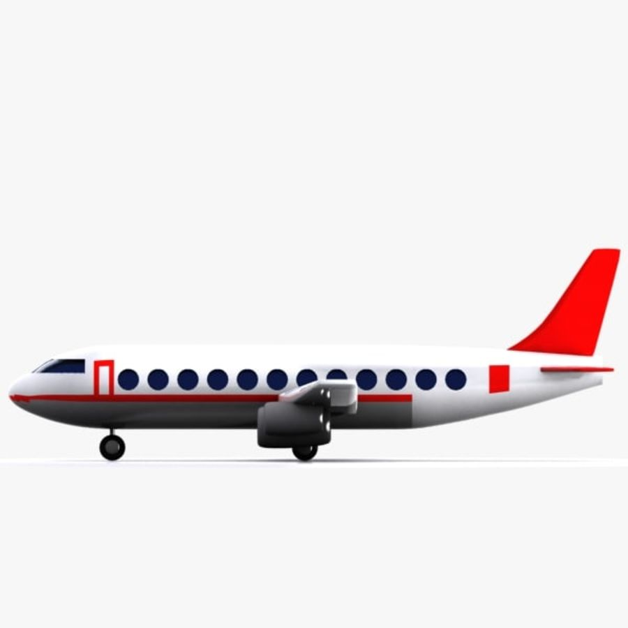 Cartoon Aircraft royalty-free 3d model - Preview no. 5