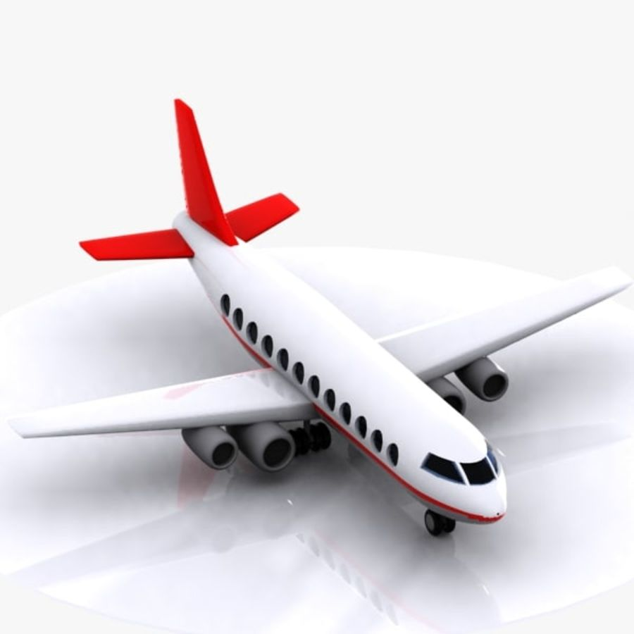 Cartoon Aircraft royalty-free 3d model - Preview no. 4