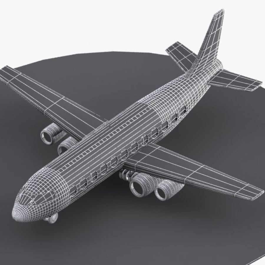 Cartoon Aircraft royalty-free 3d model - Preview no. 6