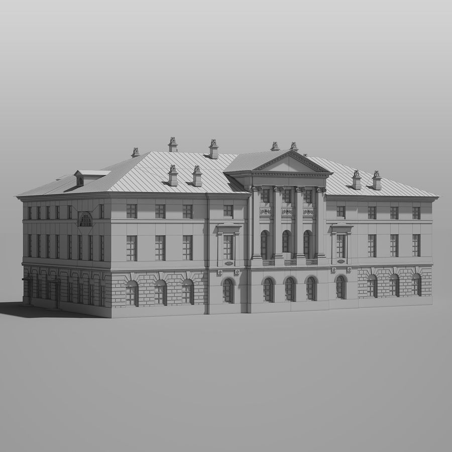 Old Building royalty-free 3d model - Preview no. 11