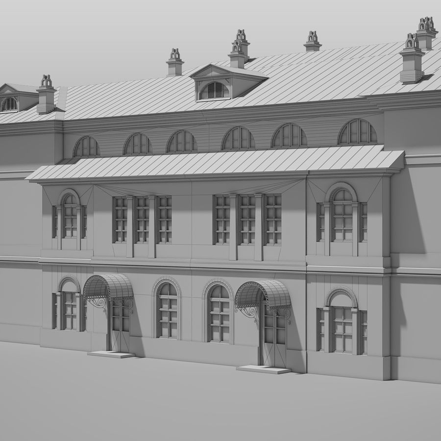 Old Building royalty-free 3d model - Preview no. 15