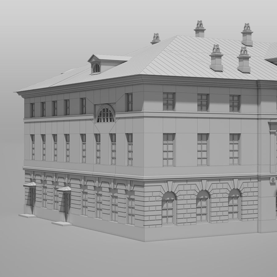 Old Building royalty-free 3d model - Preview no. 14