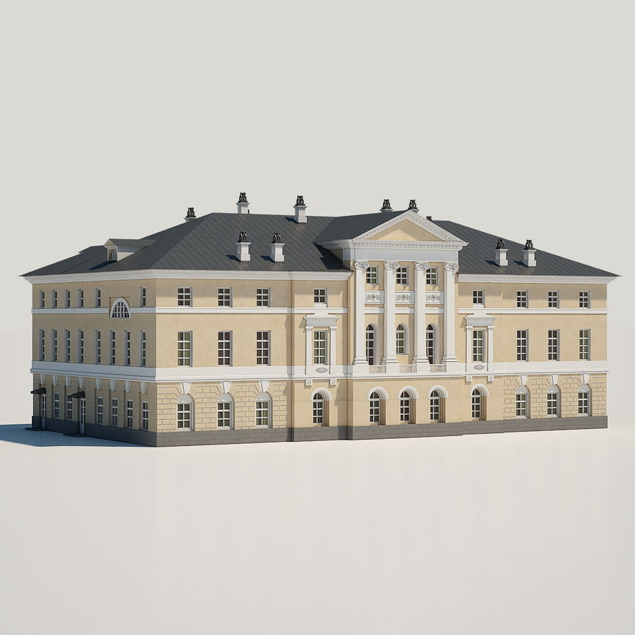 Old Building royalty-free 3d model - Preview no. 2