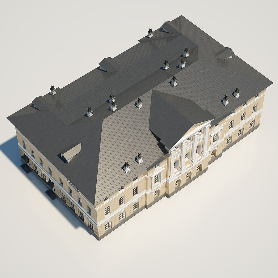 Old Building royalty-free 3d model - Preview no. 8