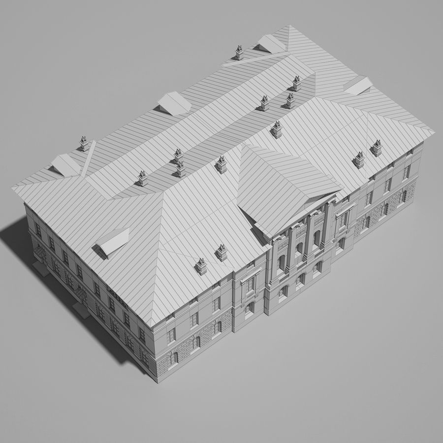 Old Building royalty-free 3d model - Preview no. 16