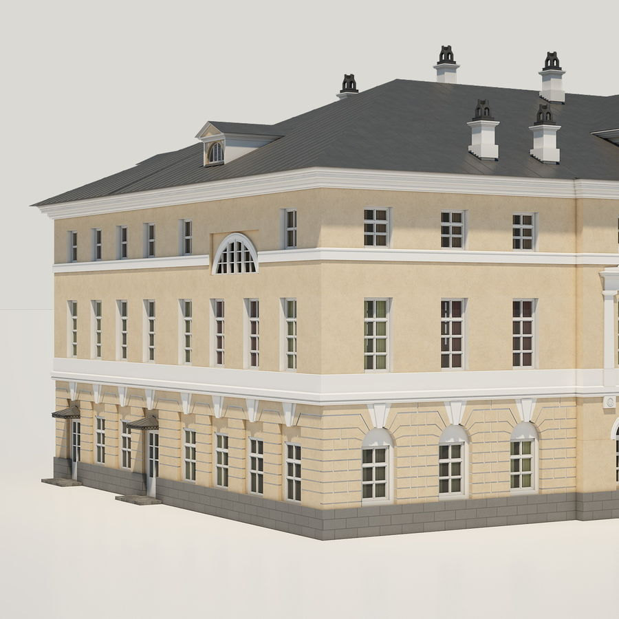 Old Building royalty-free 3d model - Preview no. 6