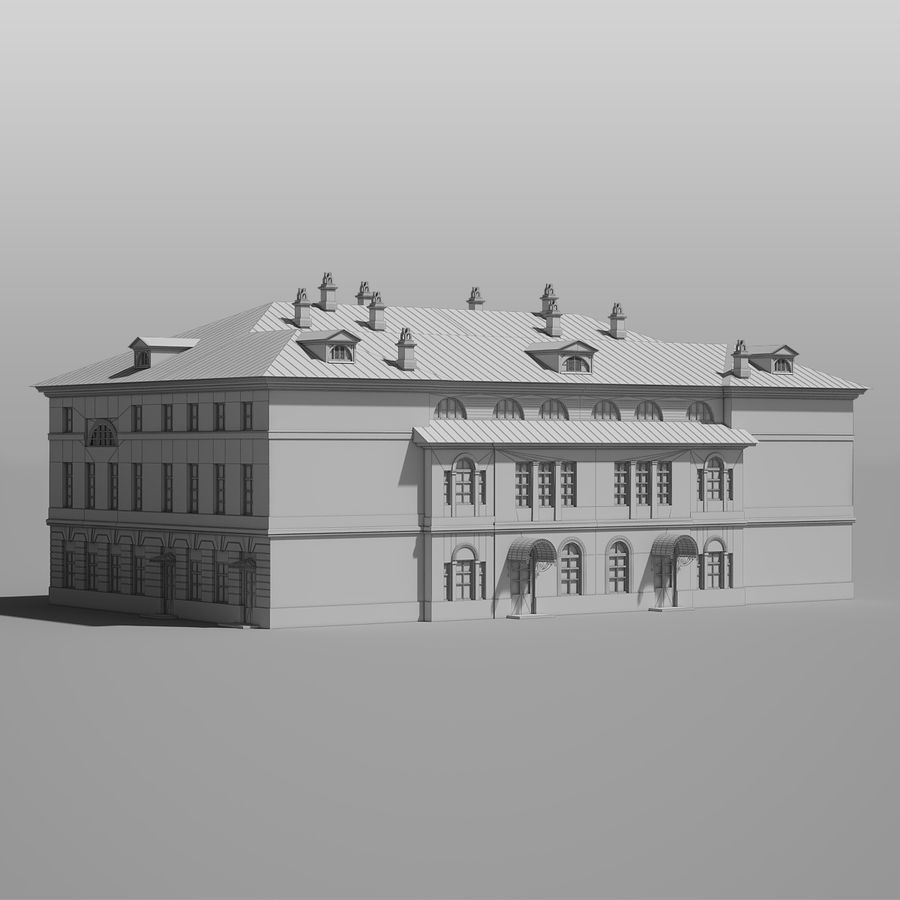 Old Building royalty-free 3d model - Preview no. 12