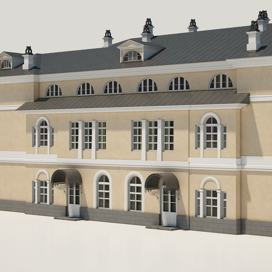 Old Building royalty-free 3d model - Preview no. 7