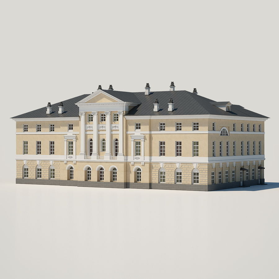 Old Building royalty-free 3d model - Preview no. 1