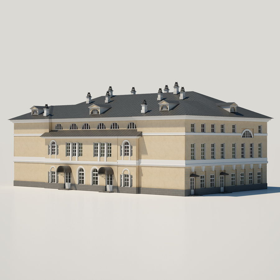 Old Building royalty-free 3d model - Preview no. 3