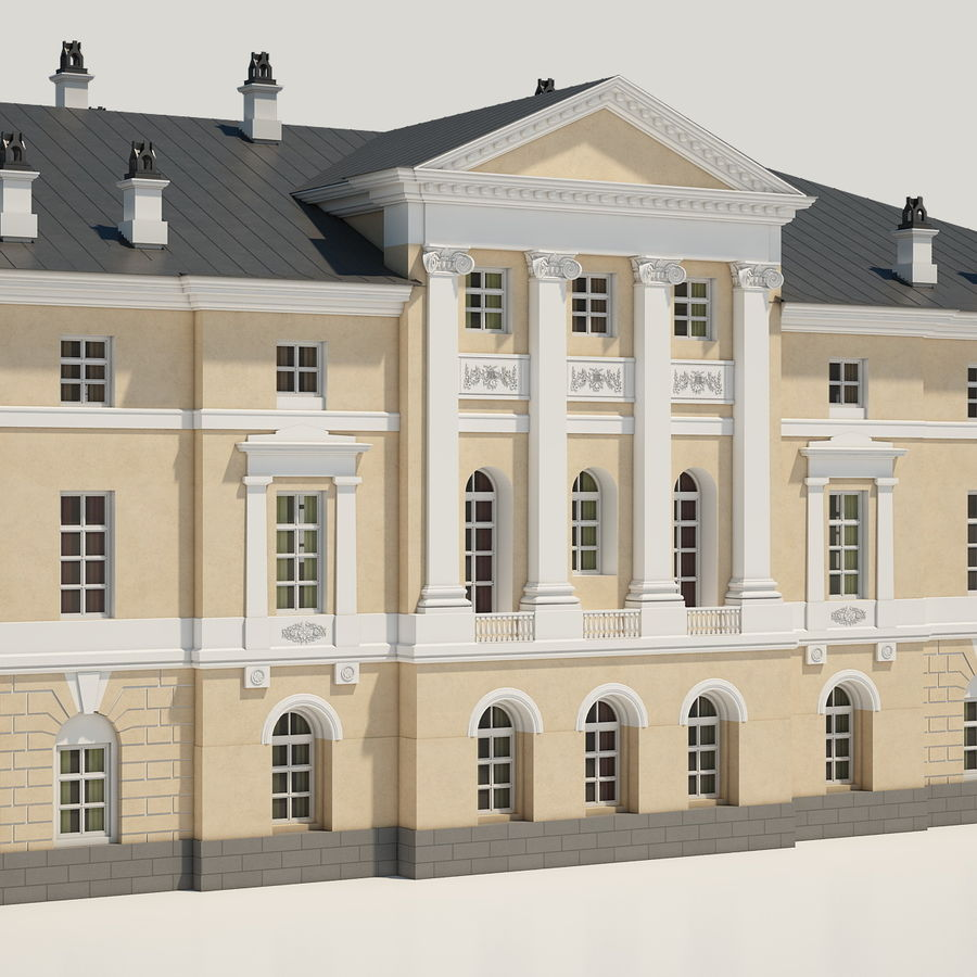 Old Building royalty-free 3d model - Preview no. 5