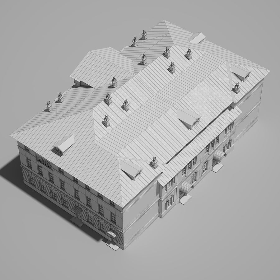 Old Building royalty-free 3d model - Preview no. 17