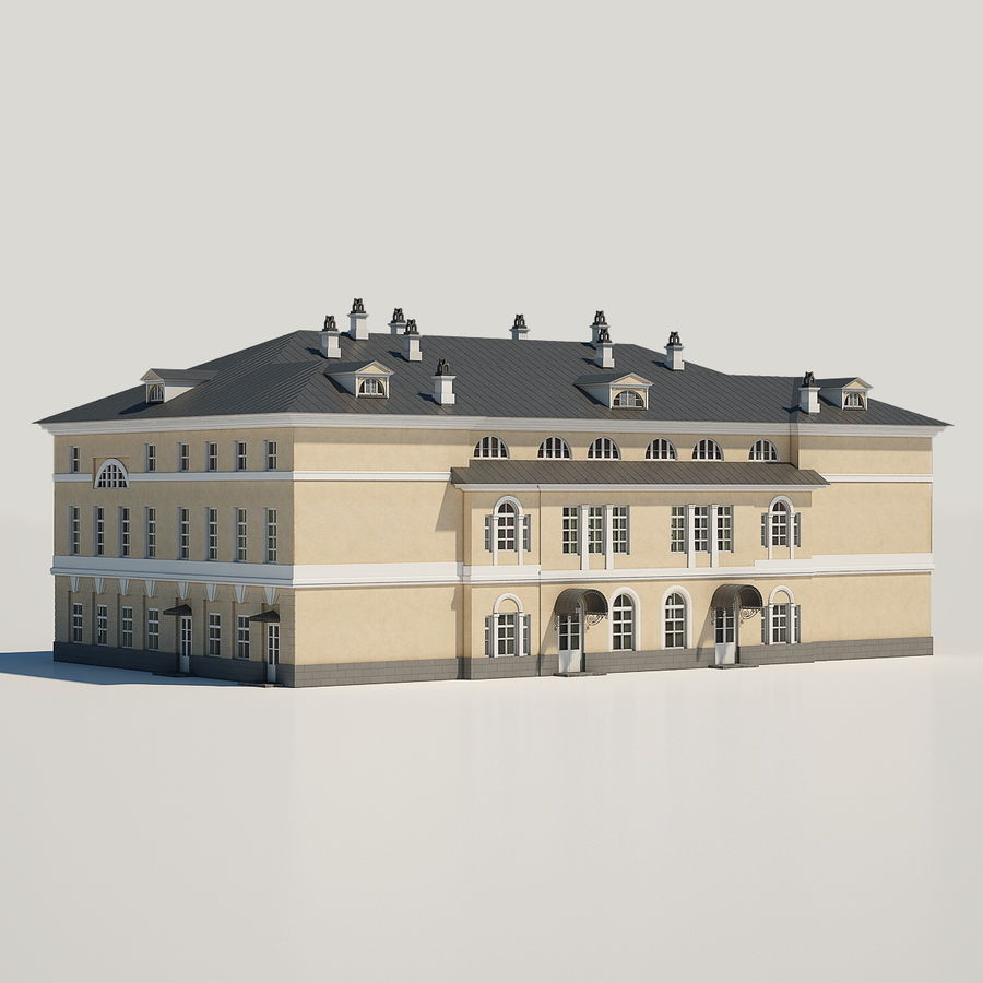 Old Building royalty-free 3d model - Preview no. 4
