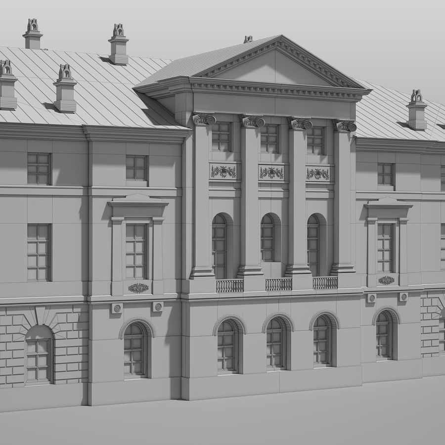 Old Building royalty-free 3d model - Preview no. 13