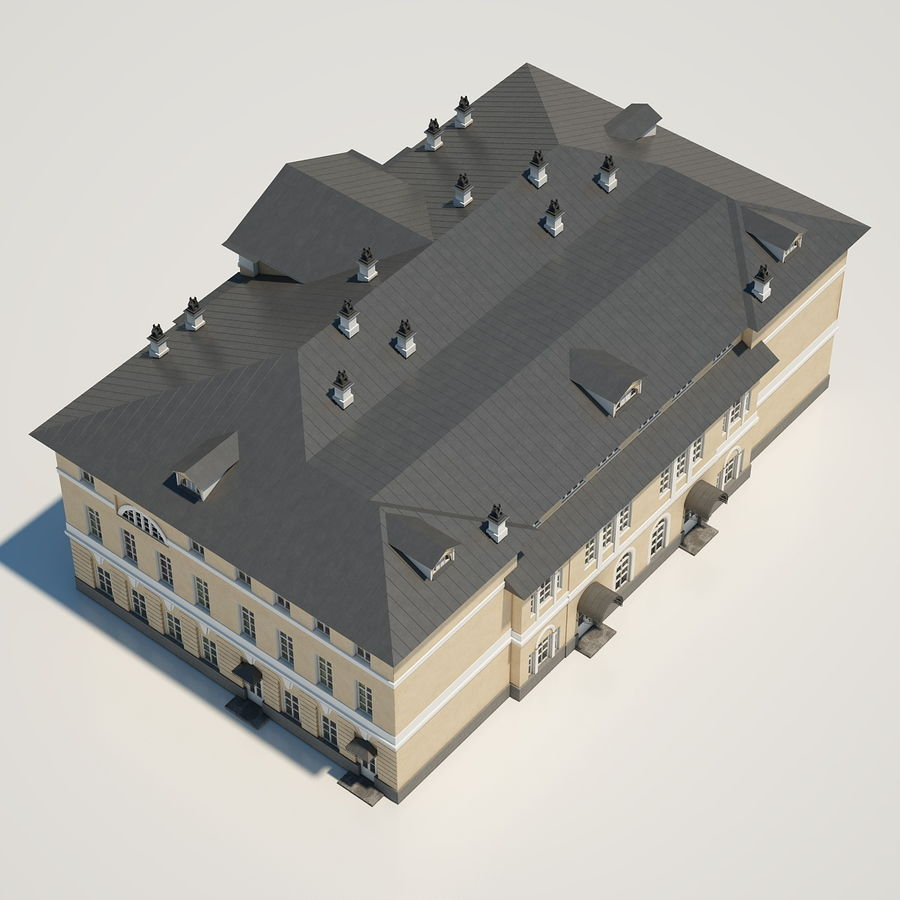 Old Building royalty-free 3d model - Preview no. 9