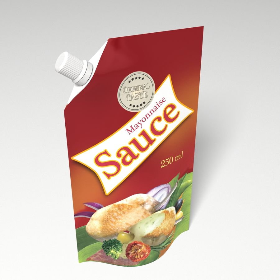 Sauce Packs royalty-free 3d model - Preview no. 6
