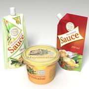 Paquets de sauce 3d model