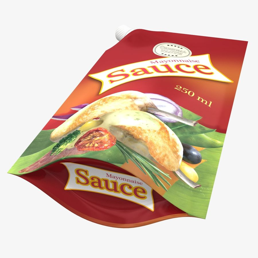 Sauce Packs royalty-free 3d model - Preview no. 8