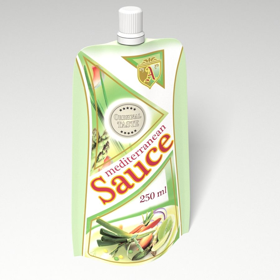 Sauce Packs royalty-free 3d model - Preview no. 3