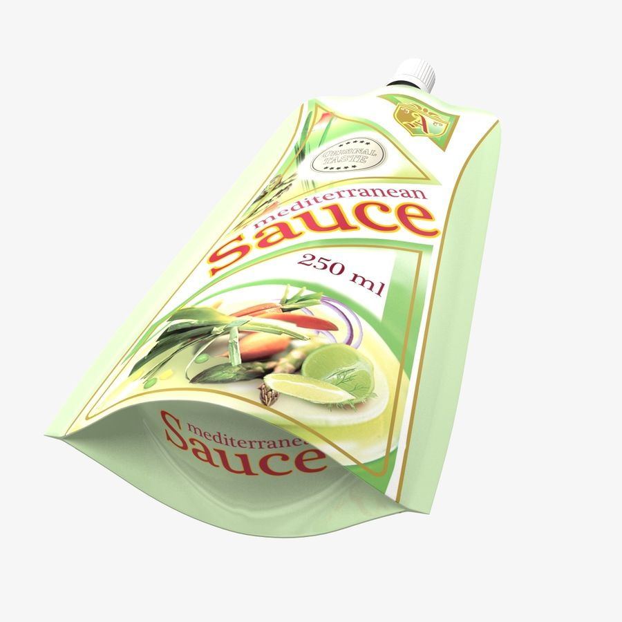 Sauce Packs royalty-free 3d model - Preview no. 5