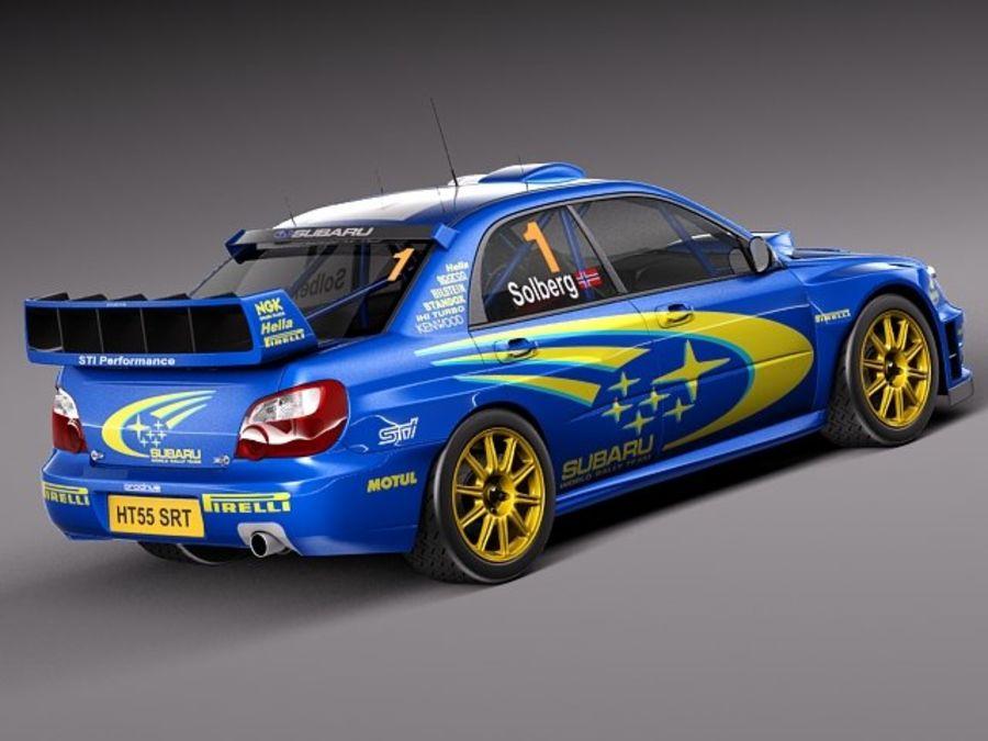 Subaru Impreza STi WRC 2004 royalty-free 3d model - Preview no. 5