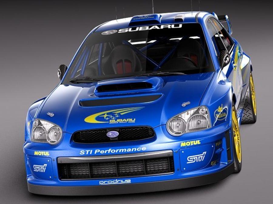 Subaru Impreza STi WRC 2004 royalty-free 3d model - Preview no. 2
