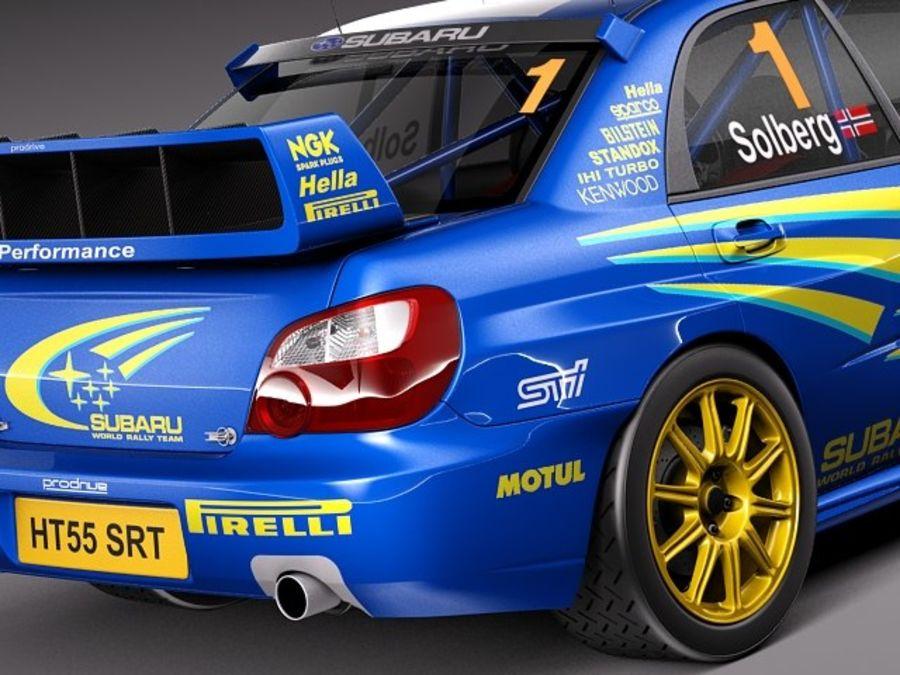 Subaru Impreza STi WRC 2004 royalty-free 3d model - Preview no. 4