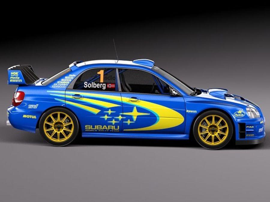 Subaru Impreza STi WRC 2004 royalty-free 3d model - Preview no. 7