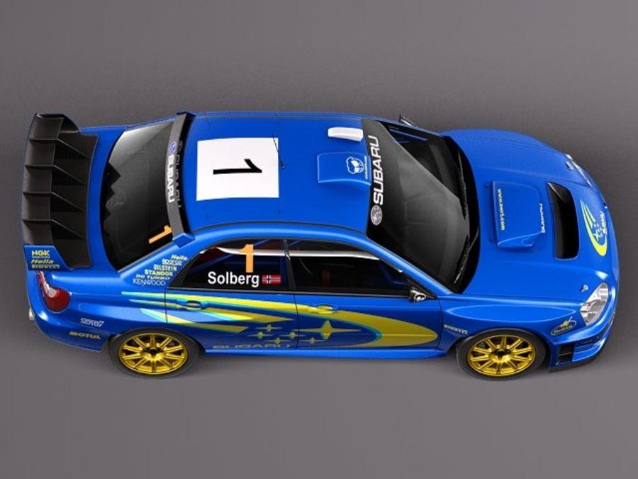Subaru Impreza STi WRC 2004 royalty-free 3d model - Preview no. 8