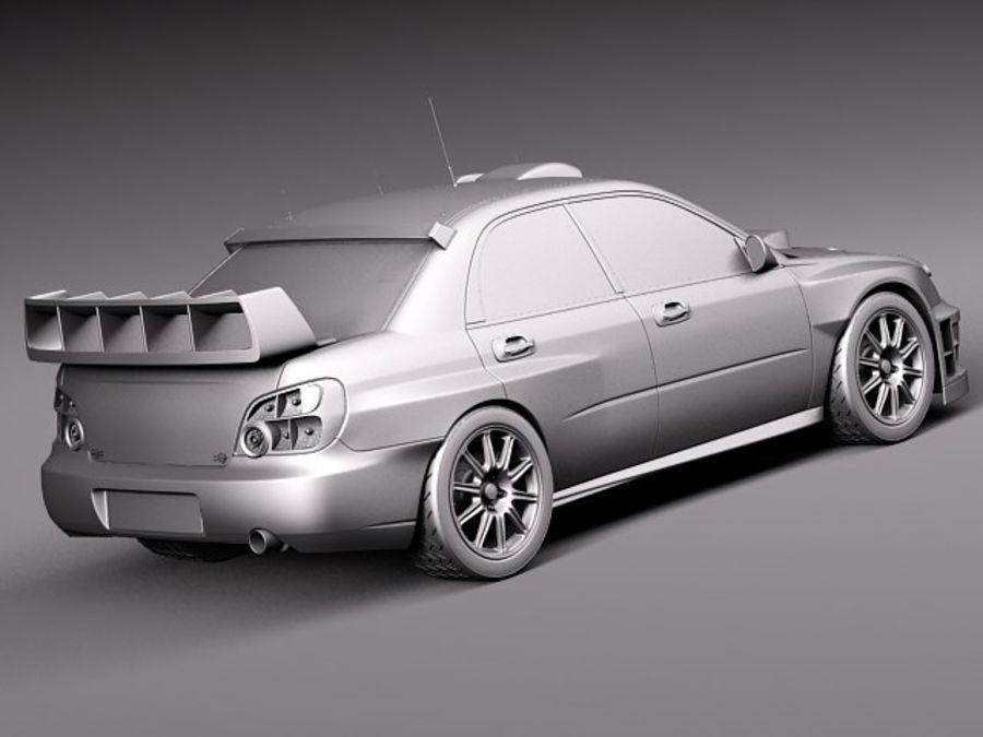 Subaru Impreza STi WRC 2004 royalty-free 3d model - Preview no. 13
