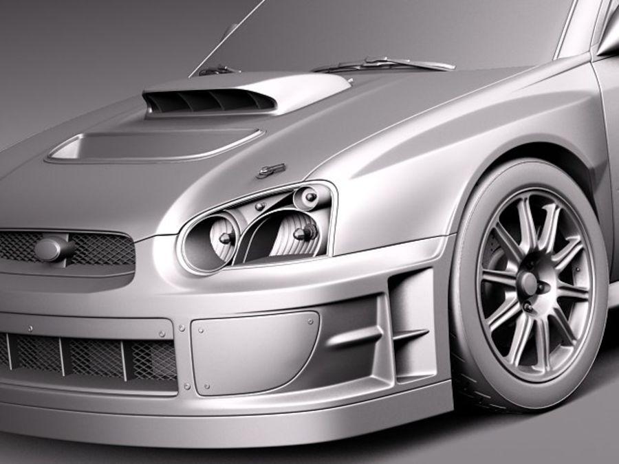Subaru Impreza STi WRC 2004 royalty-free 3d model - Preview no. 11