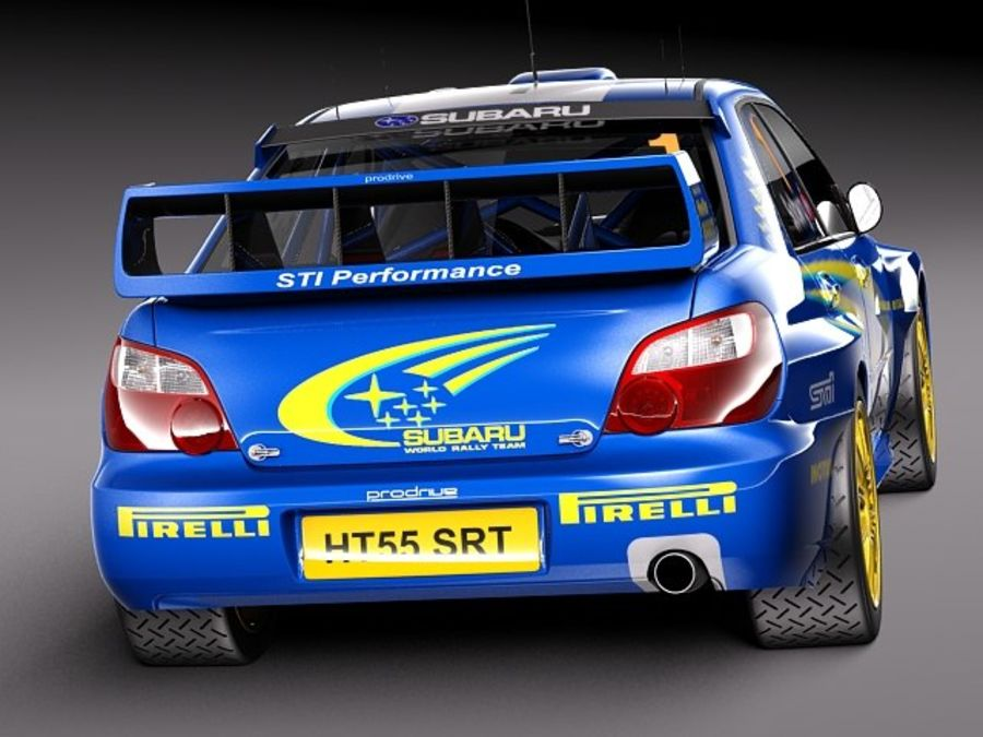 Subaru Impreza STi WRC 2004 royalty-free 3d model - Preview no. 6