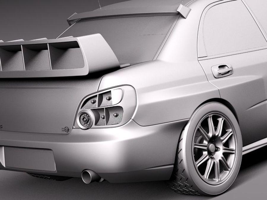 Subaru Impreza STi WRC 2004 royalty-free 3d model - Preview no. 12