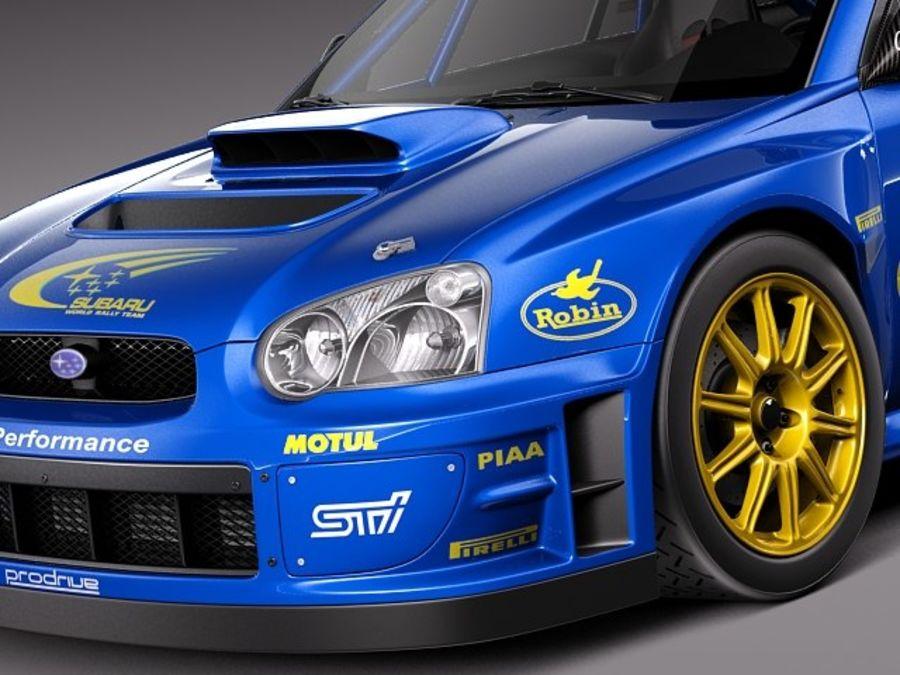 Subaru Impreza STi WRC 2004 royalty-free 3d model - Preview no. 3