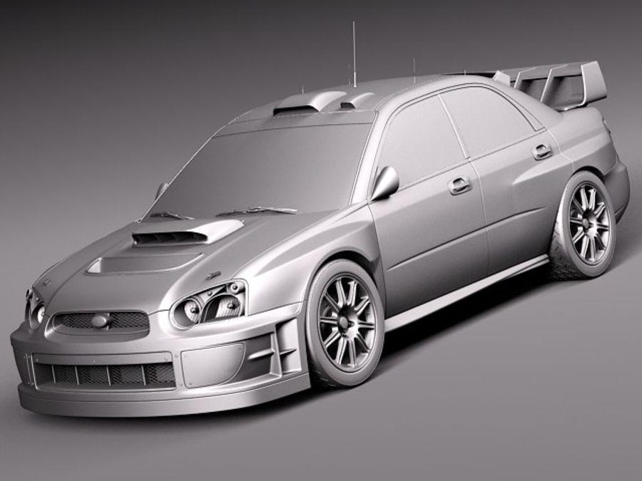 Subaru Impreza STi WRC 2004 royalty-free 3d model - Preview no. 10